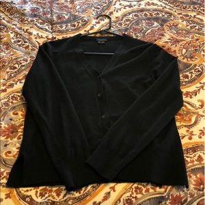 Theory Black Wool Cardigan Small/Medium